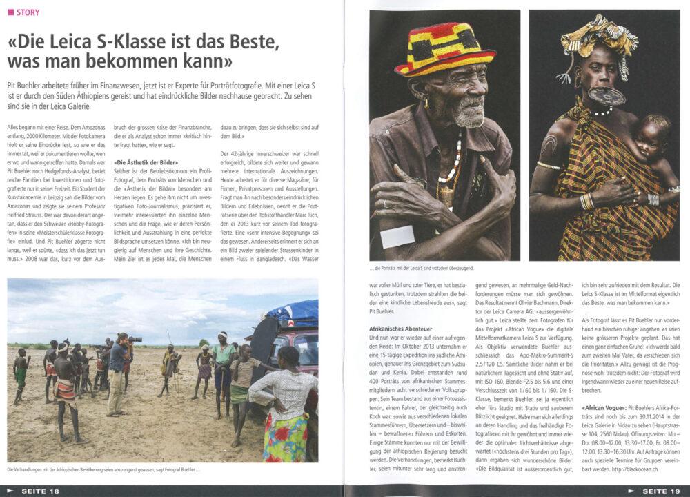 Leica Switzerland | Le Courrier | November 2014
