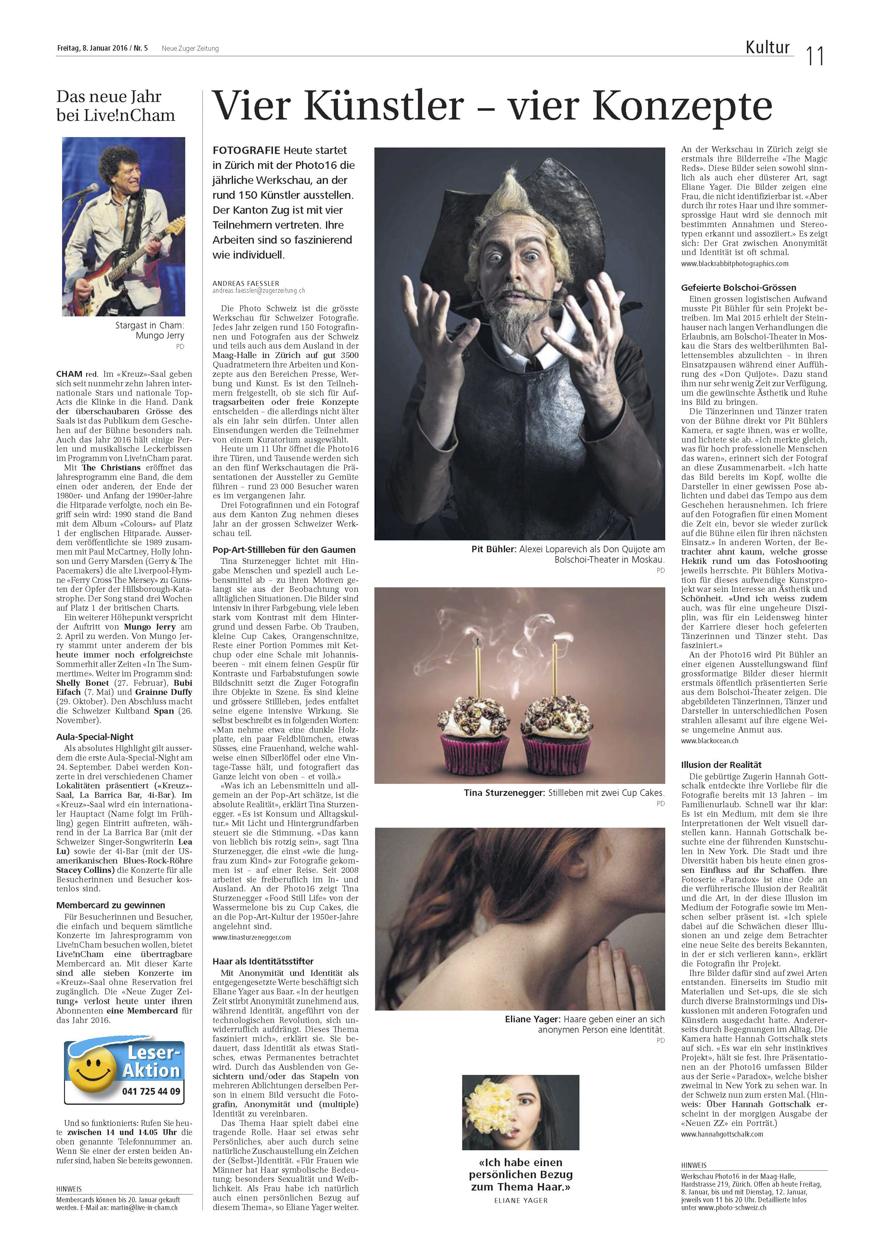 Zuger Zeitung | Switzerland | January 2016