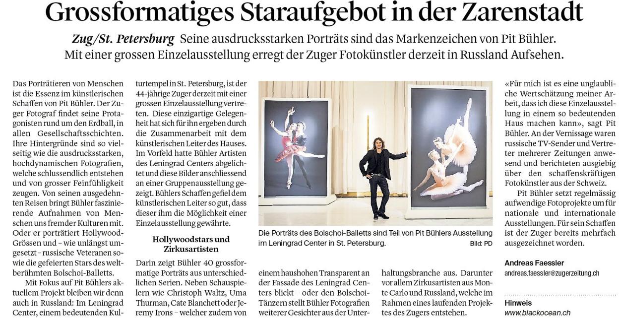 Zuger Zeitung | Switzerland | November 2017